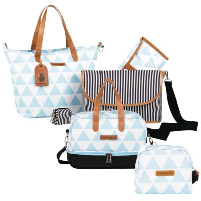 Imagem 1 do produto Bolsa 4 em 1 Sofia + Frasqueira térmica Vicky + Necessaire Manhattan Azul - Masterbag