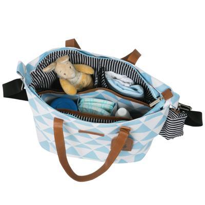 Imagem 3 do produto Bolsa 4 em 1 Sofia + Frasqueira térmica Vicky + Necessaire Manhattan Azul - Masterbag