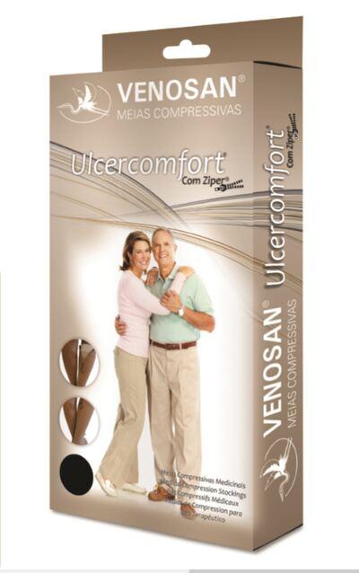 Imagem 1 do produto Meia Panturrilha AD 40 mmHg Ulcercomfort Venosan - Curta P