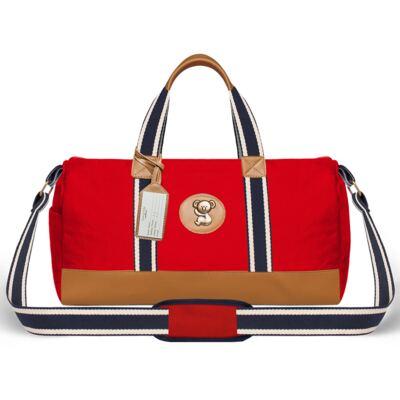 Imagem 2 do produto Bolsa Passeio para bebe + Bolsa Albany + Térmica Gold Coast + Necessaire + Trocador + Porta Mamadeira sarja Adventure Vermelha - Classic for Baby Bags