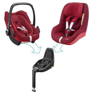 Imagem 11 do produto Travel System: Bebe Conforto Pebble Plus Maxi-Cosi + Base 2WayFix com sistema Isofix Black  Maxi-Cosi + Carrinho Zapp Xtra 2 Red Rumour Quinny