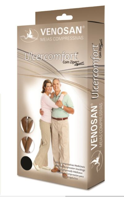 Imagem 1 do produto Meia Panturrilha AD 40 mmHg Ulcercomfort Venosan - Curta M
