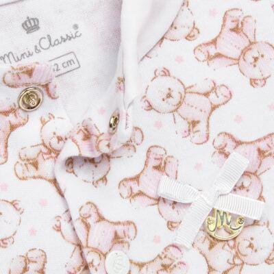 Imagem 2 do produto Macacão para bebe em algodão egípcio c/ jato de cerâmica Princess Bear - Mini & Classic - 3032655 MACACAO M/C C/ GOLA SUEDINE URSA -RN