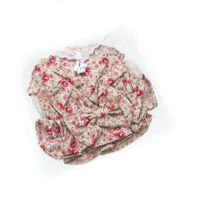 Imagem 6 do produto Conjunto de banho para bebê Liberty: Bumbum + Chapéu - Roana - BSR00900973 BANHO DE SOL C/ RENDA 3737 FLORAL/LARANJA-P