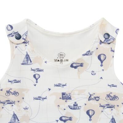 Imagem 2 do produto Macacão regata para bebe em algodão egípcio Bon Voyage - Bibe - 41D40-H56 BANHO DE SOL MASC BON VOYAGE-M
