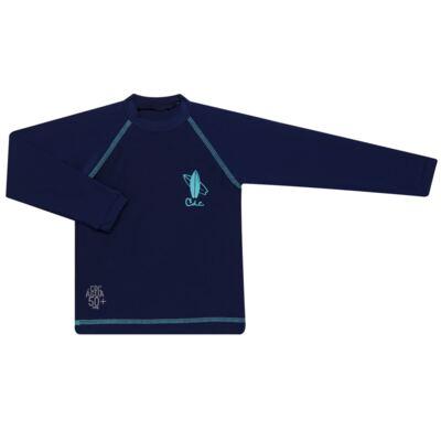 Imagem 1 do produto Camiseta Surfista em lycra FPS 50 Marinho - Cara de Criança - CSAL2576 PRANCHA BLUE CSAL CAMISETA SURF AGUA LONGO LYCRA-6