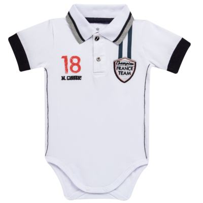 Imagem 1 do produto Body polo para bebe em cotton Racing - Mini & Classic - BDBP669 BODY POLO COTTON GRAND PRIX-M