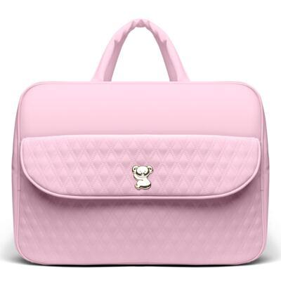 Imagem 2 do produto Kit Mala Maternidade para bebe + Bolsa Mônaco + Frasqueira Térmica Nice Golden Koala Rosa - Classic for Baby Bags