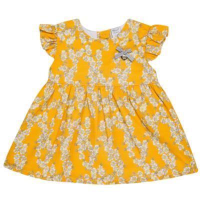 Imagem 1 do produto Vestido para bebe em tricoline Daisy - Mini & Classic - 1417657 VESTIDO REGATA TRICOLINE FLORAL AMARELO-3
