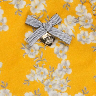 Imagem 2 do produto Vestido para bebe em tricoline Daisy - Mini & Classic - 1417657 VESTIDO REGATA TRICOLINE FLORAL AMARELO-3
