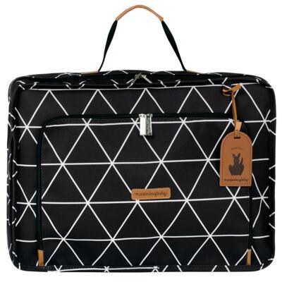 Imagem 2 do produto Mala maternidade Vintage + Bolsa Everyday + Frasqueira Organizadora + Necessaire Manhattan Preta  - Masterbag