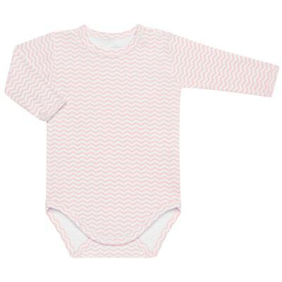 Imagem 3 do produto Pack 2 Bodies longos para bebe em suedine Ovelhinha Rosa - Petit - 10424344 PACK 2 BODIES M/L SUEDINE OVELHA FEM-G