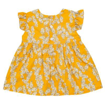 Imagem 3 do produto Vestido para bebe em tricoline Daisy - Mini & Classic - 1417657 VESTIDO REGATA TRICOLINE FLORAL AMARELO-M