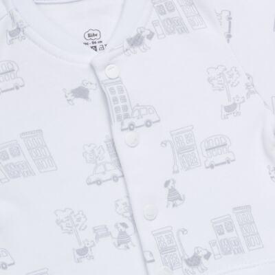 Imagem 2 do produto Macacão curto para bebe em suedine City - Bibe - 39C32-G92 MAC MASC MC BY BIBE-P