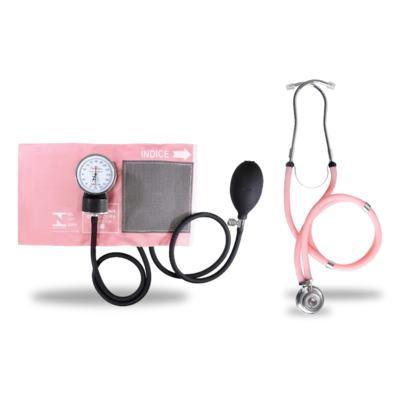 Imagem 1 do produto Kit Esteto Rappaport com Aparelho de Pressão Rosa Premium