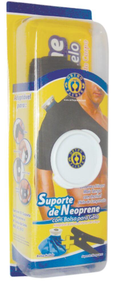 Imagem 1 do produto Suporte De Neoprene Com Bolsa Para Gelo Preto Ac072 Ortho Pauher - M