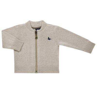 Imagem 1 do produto Casaquinho para bebe em tricot Caqui - Mini Sailor - 75494267 CASACO BASICO ZIPER TRICOT CAQUI-3