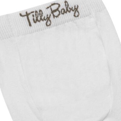 Imagem 3 do produto Meia-Calça para bebe em algodão Branca - Tilly Baby - TB172031.01 ACESSORIO MEIA UNISSEX BASICA BRANCA-P