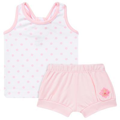 Imagem 1 do produto Regata c/ Shorts para bebe em algodão egípcio Princess - Bibe - 39G23-G79 CJ CUR F RG SH BY BIBE-P