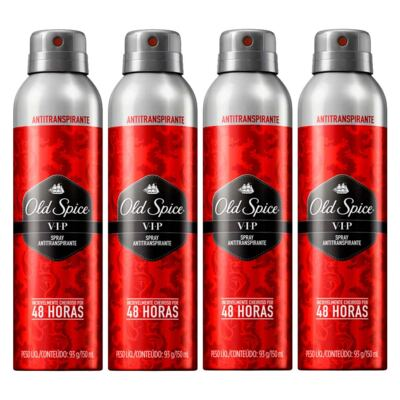 Imagem 1 do produto Kit 4 Desodorante Old Spice Antitranspirante Spray VIP 150ml