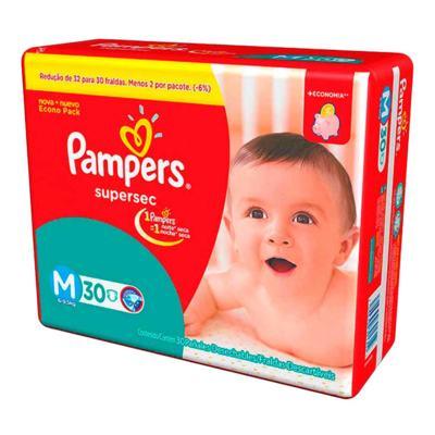Imagem 2 do produto Kit Pampers Fralda Descartável Supersec M 60 Unidades + Dermodex Prevent 30g