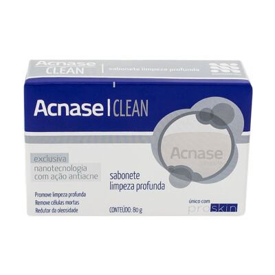 Imagem 2 do produto Kit Acnase 3 Sabonetes Limpeza Profunda 80g + Clean Gel 50g