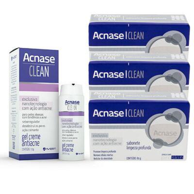 Imagem 3 do produto Kit Acnase 3 Sabonetes Limpeza Profunda 80g + Clean Gel 50g