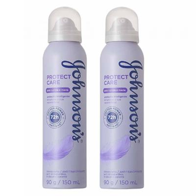 Imagem 1 do produto Desodorante Johnson´s Aerosol Protect Care 150ml 2 Unidades