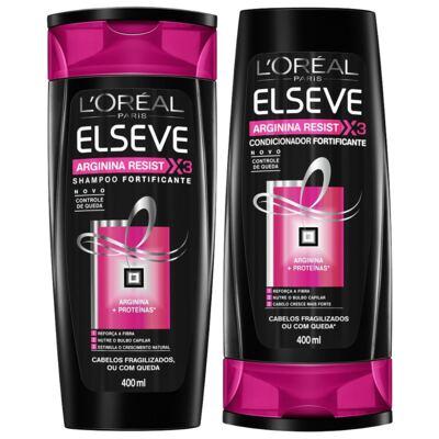 Imagem 1 do produto Kit Elseve Arginna Resist Shampoo 400ml + Condicionador 400ml
