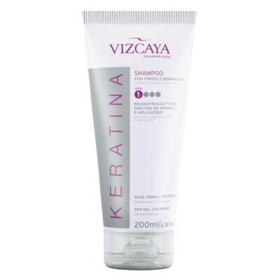 Imagem 2 do produto Shampoo Keratina Vizcaya 200ml + Condicionador Keratina Vizcaya 150ml
