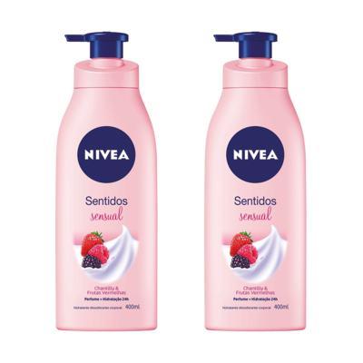 Imagem 1 do produto Loção Hidratante Nivea Sentidos Sensual 400ml 2 Unidades