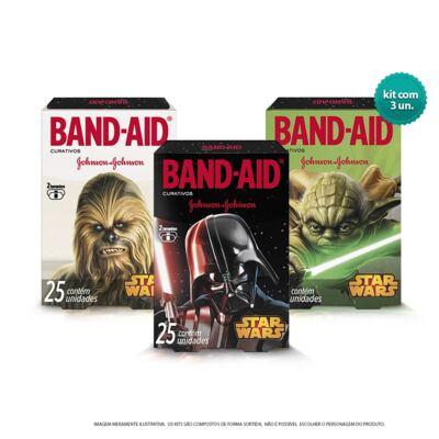 Imagem 1 do produto Curativo Band-Aid Star Wars Johnson´s 3 Caixas de 25 Unidades