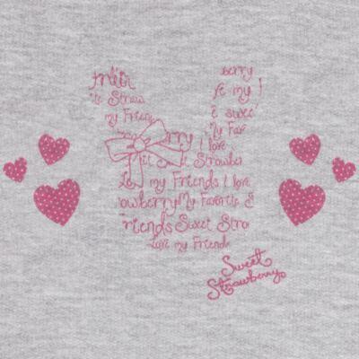 Imagem 3 do produto Blusão com Calça para bebe em moletom Corações Poá Mescla - Mini Mix - LTCM01 CONJUNTO MOLETOM CORAÇÃO POÁ PINK/MESCLA-2