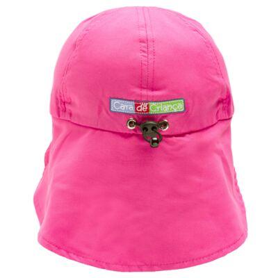 Imagem 3 do produto Boné c/ proteção em microfibra Pink - Cara de Criança - CH1316 BONE PINK CH CHAPEU PRAIA POLIESTER-P