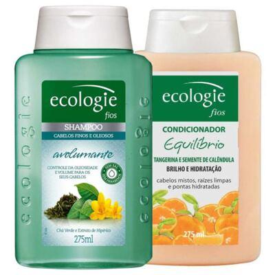 Imagem 1 do produto Shampoo Ecologie Avolumante 275ml + Condicionador Ecologie Equilíbrio 275ml