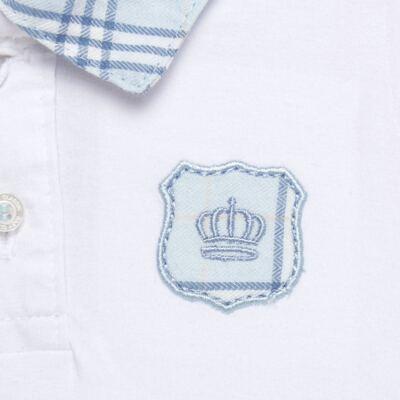 Imagem 3 do produto Body longo com Calça em viscomfort Le Petit Azul - Baby Classic - 18660001.03 CONJ.BODY C/GOLA E CALÇA - VISCOMFORT-M