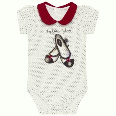 Imagem 1 do produto Body curto para bebe em cotton algodão egípcio Love Cute - Mini & Kids - BDGC0001.233 BODY M/C C/GOLA - COTTON-M
