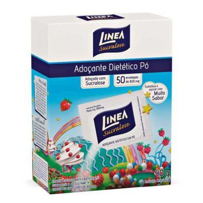 Imagem 2 do produto Shake Linea Morango 400g + Adoçante Linea Pó 8g 50 Envelopes