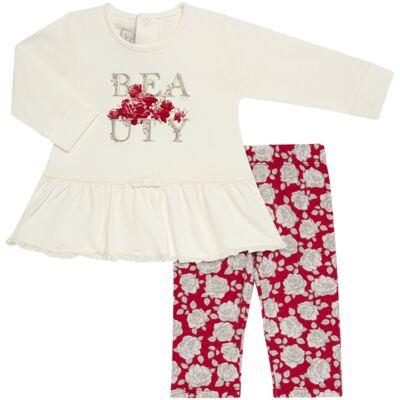 Imagem 1 do produto Bata com Legging para bebe em viscomfort Roses - Baby Classic - 18190003.21 BLUSA ABER.TRASEIRA C/LEGGING-VISCOMFORT-1