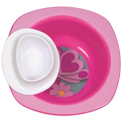 Imagem 1 do produto Tigela Dip It Rosa (9m+) - First Years - F4889-ROSA Tigela Dip It (9m+)
