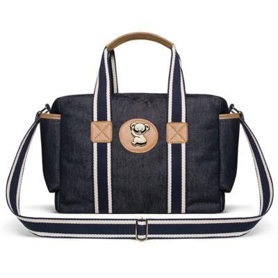 Imagem 4 do produto Bolsa Passeio para bebe + Bolsa +  Frasqueira Térmica Gold Coast + Porta Mamadeira + Trocador + Necessaire Adventure Jeans - Classic for Baby Bags