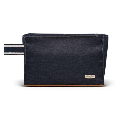 Imagem 6 do produto Bolsa Passeio para bebe + Bolsa +  Frasqueira Térmica Gold Coast + Porta Mamadeira + Trocador + Necessaire Adventure Jeans - Classic for Baby Bags