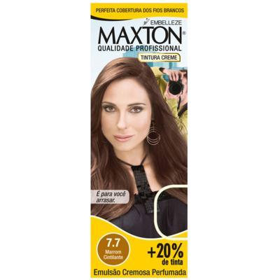 Imagem 1 do produto Kit Maxton Tintura Prático 7.7 Marrom