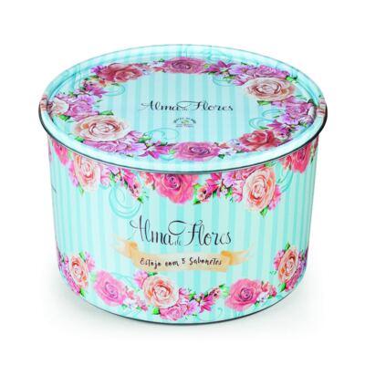 Imagem 2 do produto Kit Banho Alma de Flores 5 Sabonetes 130g + Lata Exclusiva