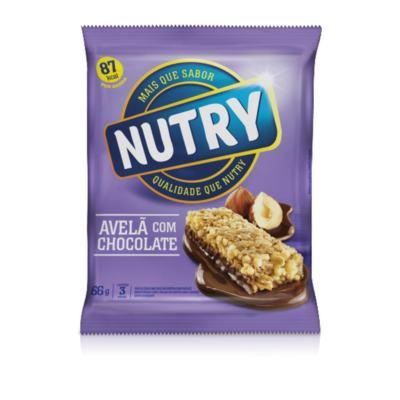 Imagem 1 do produto Nutry Barra de Ceral Light Avelã com Chocolate 3 Unidades