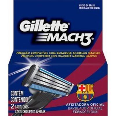 Imagem 1 do produto Carga para Aparelho de Barbear Gillette Mach3 Barcelona - 2 unidades