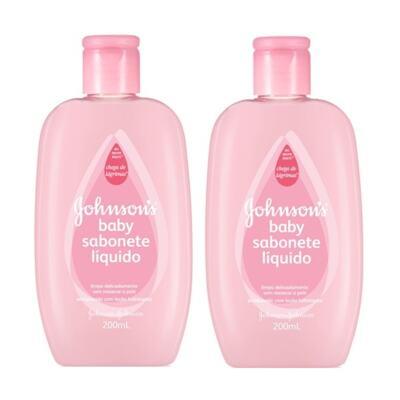 Imagem 1 do produto Sabonete Líquido Johnson´s Baby Hidratante Pink 200ml 2 Unidades