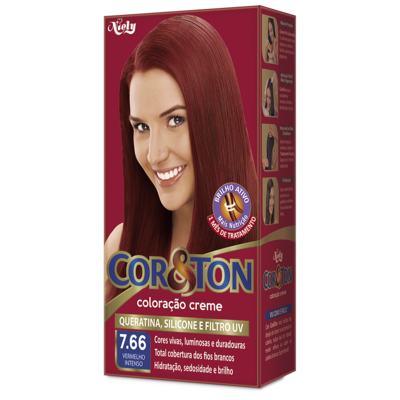 Coloração Creme Cor & Ton - 7.66 Vermelho Intenso | 50g