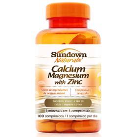 Cálcio + Magnésio Com Zinco Sundown - 100 Comprimidos
