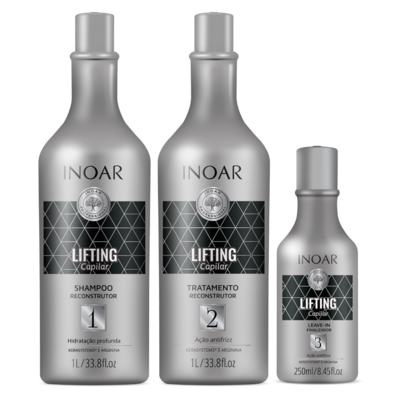 Imagem 3 do produto Inoar Lifting Capilar Kit - Shampoo + Tratamento + Leave-In - Kit